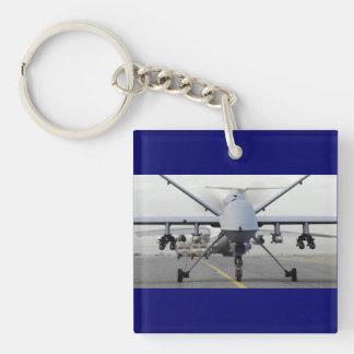SEGADOR ARMADO MQ-9 DEL TAXI DEL UAV LLAVERO CUADRADO ACRÍLICO A UNA CARA