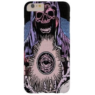 Segador clásico de la muerte del cráneo de Skully Funda Para iPhone 6 Plus Barely There