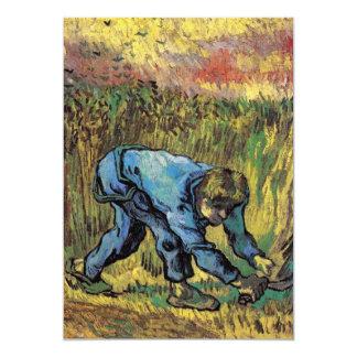 """Segador con la hoz después del mijo de Van Gogh Invitación 5"""" X 7"""""""