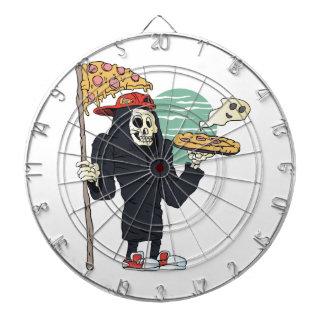 Segador de la entrega de la pizza severo