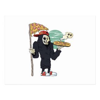 Segador de la entrega de la pizza severo tarjetas postales