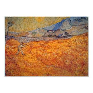 """Segador de Vincent van Gogh Invitación 5"""" X 7"""""""