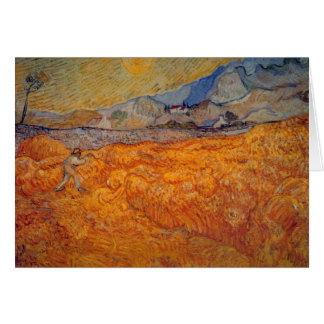 Segador de Vincent van Gogh Felicitacion