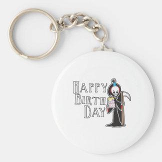 Segador del feliz cumpleaños llaveros personalizados