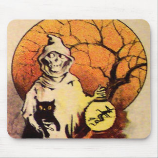 Segador (tarjeta de Halloween del vintage) Tapete De Ratones