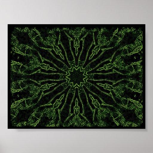 Segador (verde del neón) posters