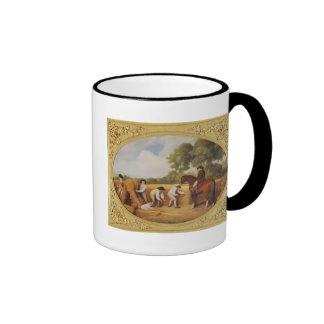 Segadores, 1795 (esmalte en earthenw de la galleta tazas de café