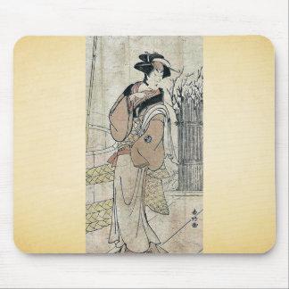 Segawa Kikunojo III by Katsukawa, Shunko Ukiyoe Mouse Pads