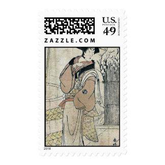 Segawa Kikunojo III by Katsukawa, Shunko Ukiyoe Stamp