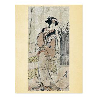 Segawa Kikunojo III por Katsukawa, Shunko Ukiyoe Tarjeta Postal