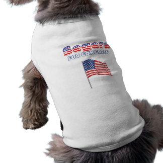 Segers para la bandera americana patriótica del co camisa de perro