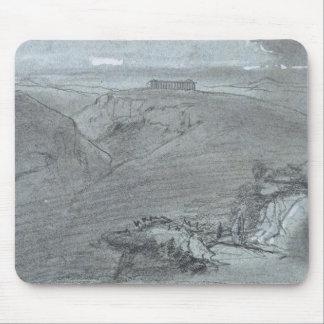 """Segesta, de """"vistas de Sicilia"""" (tiza y aguazo o Alfombrilla De Ratón"""