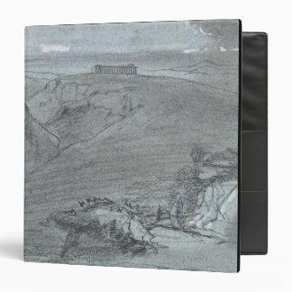 Segesta, from 'Views of Sicily' (chalk & gouache o Binder
