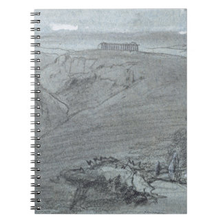 Segesta, from 'Views of Sicily' (chalk & gouache o Notebook