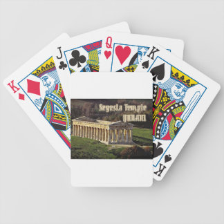 Segesta Temple Bicycle Poker Cards