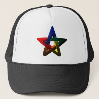 Segmented Star on Spherical Surface Trucker Hat