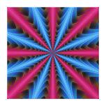 Segmentos de la impresión 16 de la lona en rosa y impresiones en lienzo estiradas