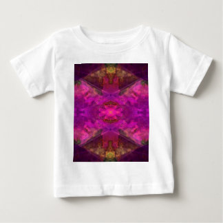 Segments Colorful Abstract in Magenta and Yellow Baby T-Shirt