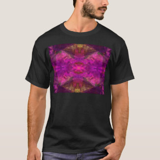 Segments Colorful Abstract in Magenta and Yellow T-Shirt
