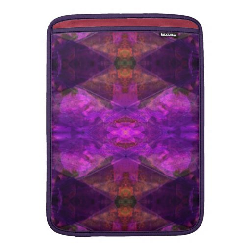 Segments Colorful Abstract in Magenta MacBook Air Sleeves