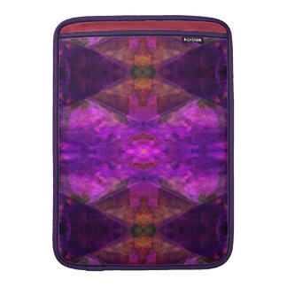 Segments Colorful Abstract in Magenta Sleeve For MacBook Air