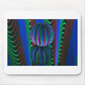 Segments in the crystal ball mouse pad