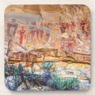 Sego Canyon Indian Pictographs - Utah Beverage Coaster