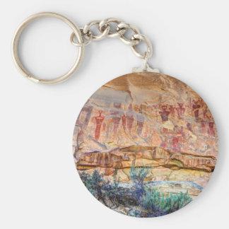 Sego Canyon Indian Pictographs - Utah Keychain