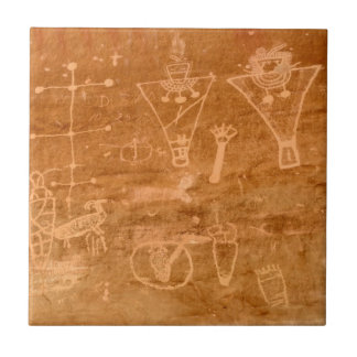 Sego Canyon Petroglyphs - Thompson Springs - Utah Ceramic Tile