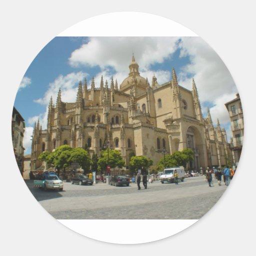 Segovia Cathedral- Spain Classic Round Sticker