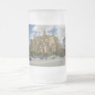 Segovia Cathedral-Spain Frosted Glass Beer Mug