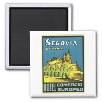 Segovia Espana Hotel Comercio Europeo Magnet