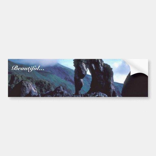 Seguam Island, S.E. side, Seahorse Rock Bumper Sticker