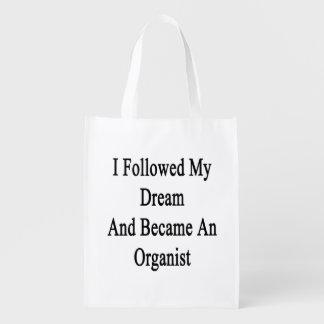 Seguí mi sueño e hice organista bolsa reutilizable