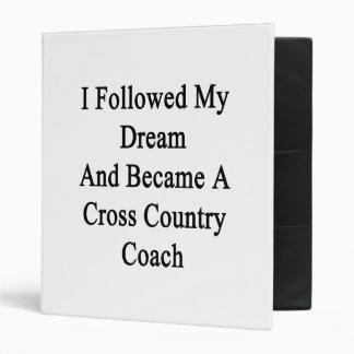 Seguí mi sueño e hice un Coa del campo a través Carpeta 2,5 Cm