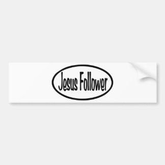 Seguidor de Jesús Pegatina Para Auto