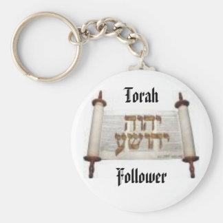 Seguidor de Torah Llavero Redondo Tipo Pin
