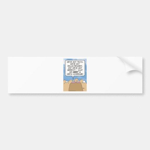 seguimiento de los medios de la aclaración de los  etiqueta de parachoque