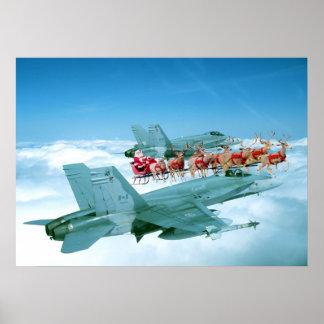 Seguimiento de Papá Noel por la fuerza aérea Póster