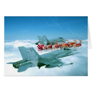 Seguimiento de Papá Noel por la fuerza aérea Tarjeta De Felicitación