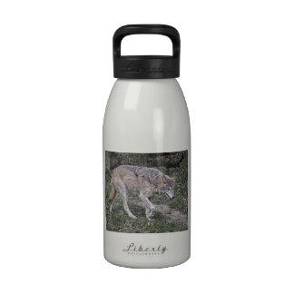 Seguimiento del lobo botella de agua