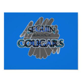 "Seguin High School Cougars - Arlington, TX 4.25"" X 5.5"" Invitation Card"