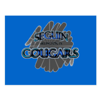 Seguin High School Cougars - Arlington, TX Postcard