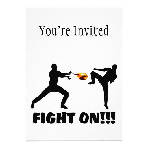 Seguir luchando del videojugador de la bola de fue invitaciones personalizada