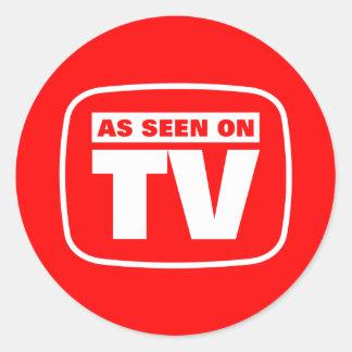 Según lo visto en la TV Pegatina Redonda