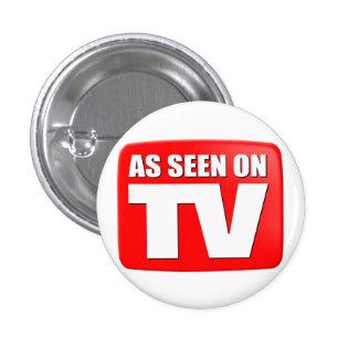 Según lo visto en la TV Pin Redondo De 1 Pulgada