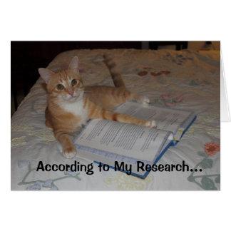 Según mi investigación… tarjeta de felicitación