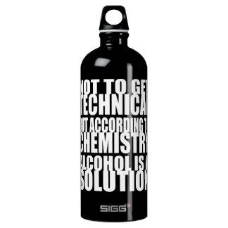Según química, el alcohol es una solución botella de agua