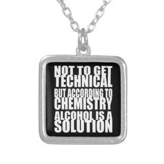 Según química, el alcohol es una solución colgante cuadrado