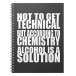 Según química, el alcohol es una solución cuaderno